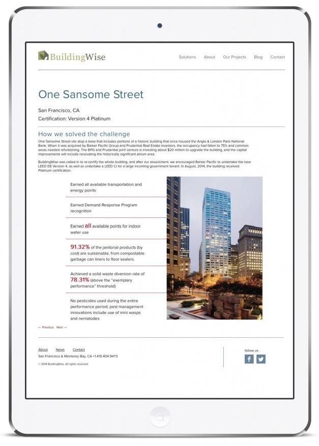 BuildingWise website design