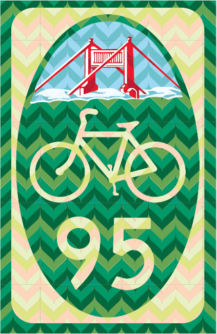 San Francisco Bike Route Sign