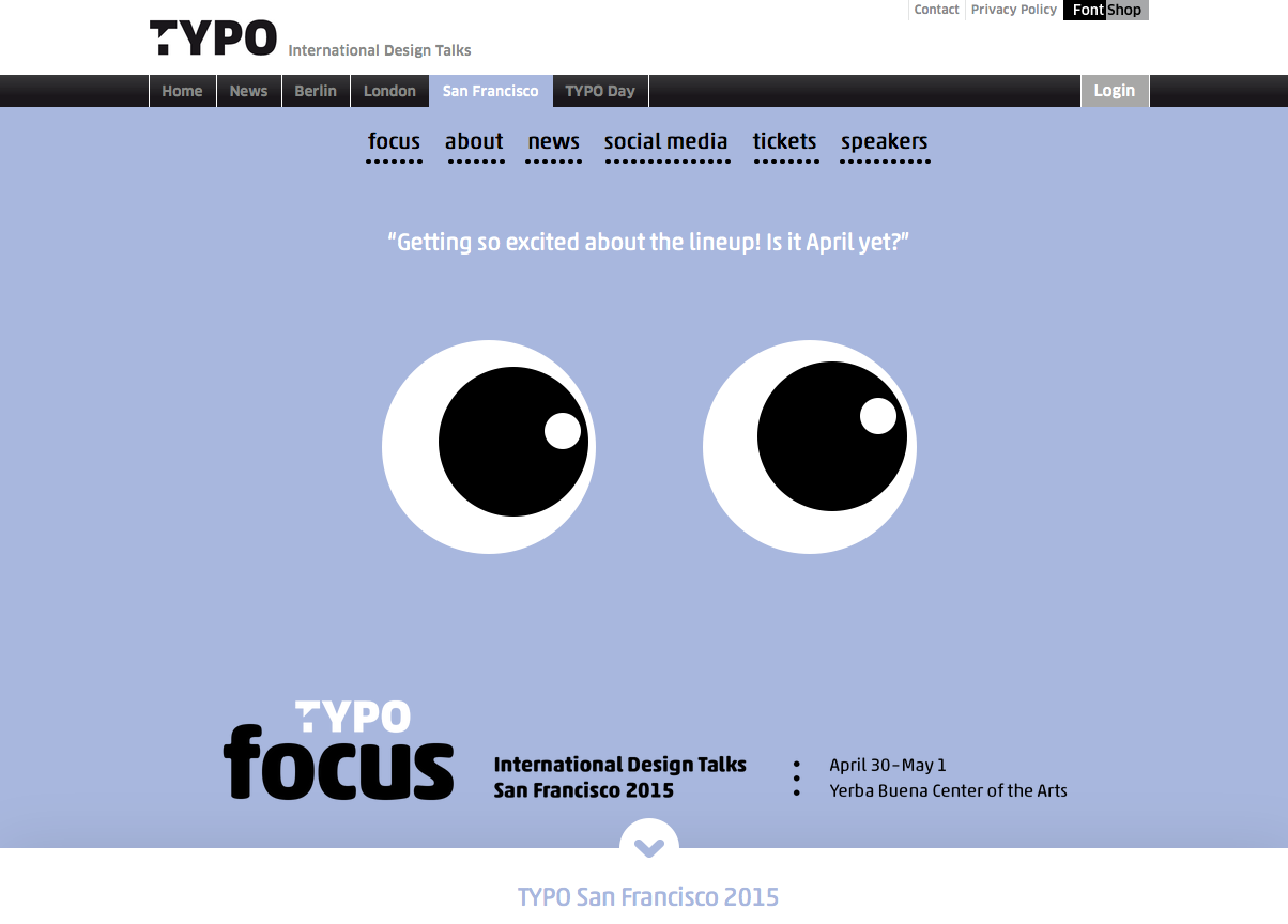TYPO SF Conference