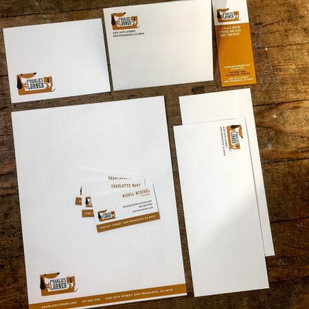 logo and identity design - stationery package