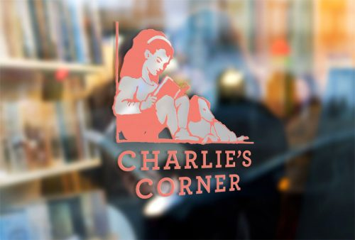 Bookstore logo and branding mockup
