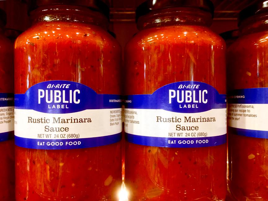 Public Label by Bi-Rite Market sauce food packaging