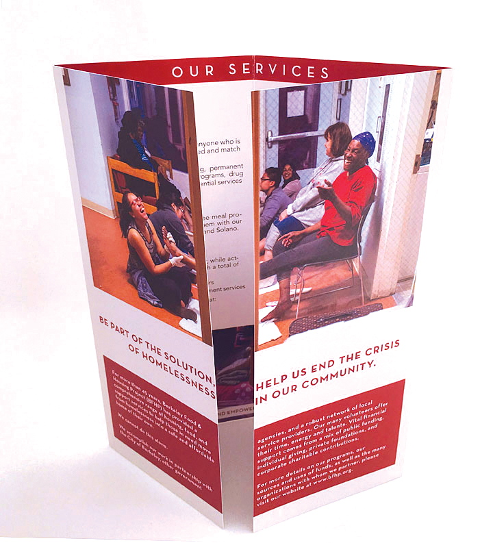 BFHP gatefold brochure design