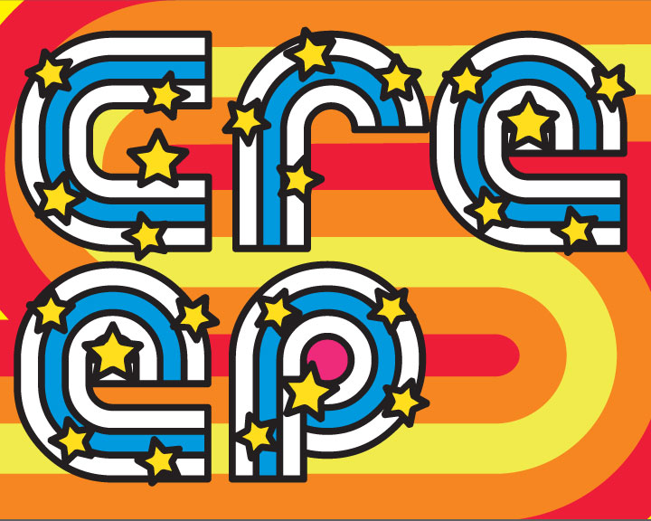 Creep - typography, design, pattern, vintage