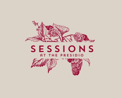 Sessions restaurant logo and branding