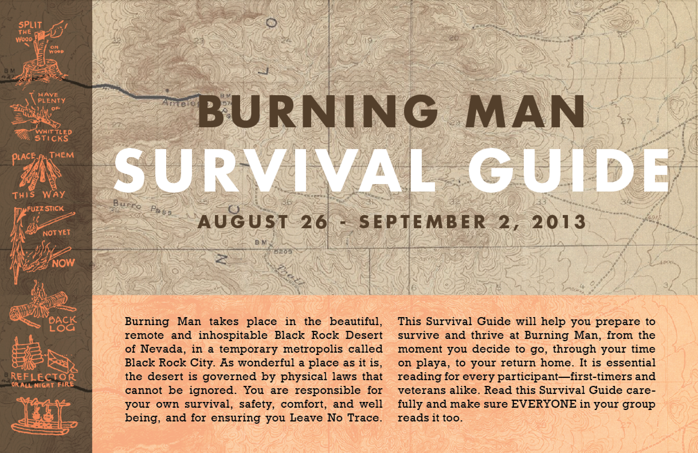 BUirning Man Survival Guide design 2014 cover