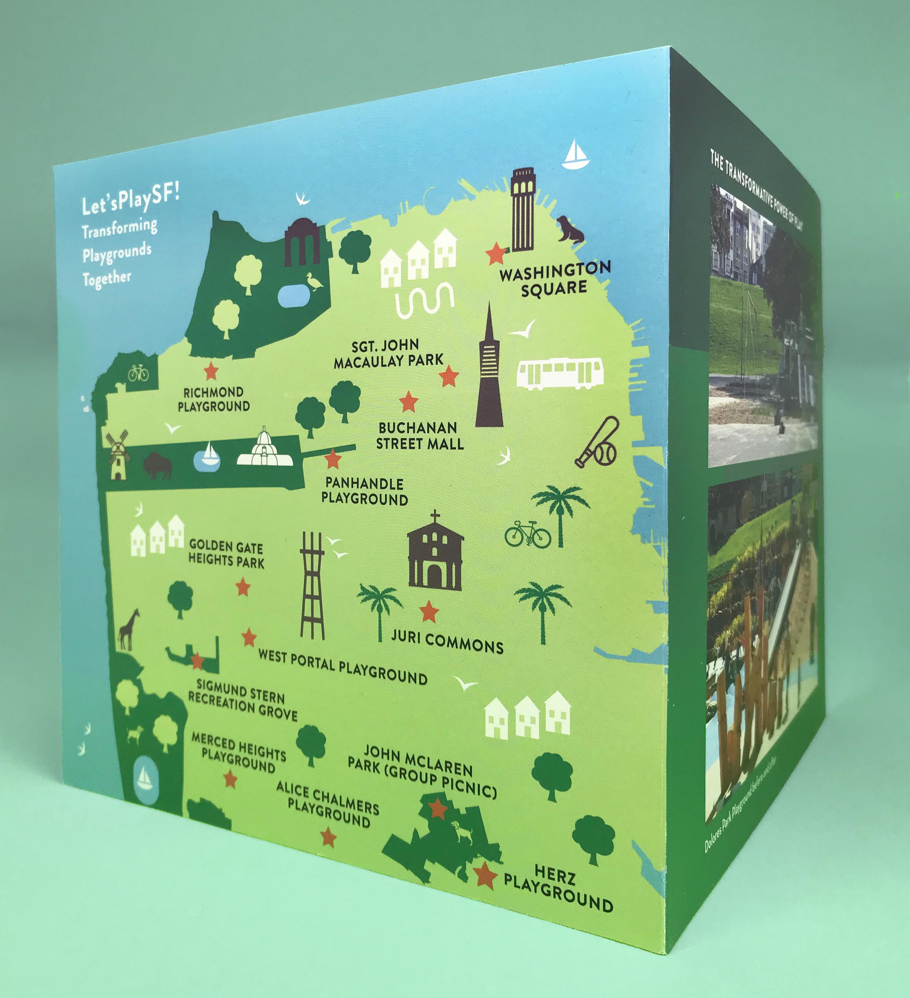 Brochure design for the San Francisco Parks Department and the San Francisco Parks Alliance