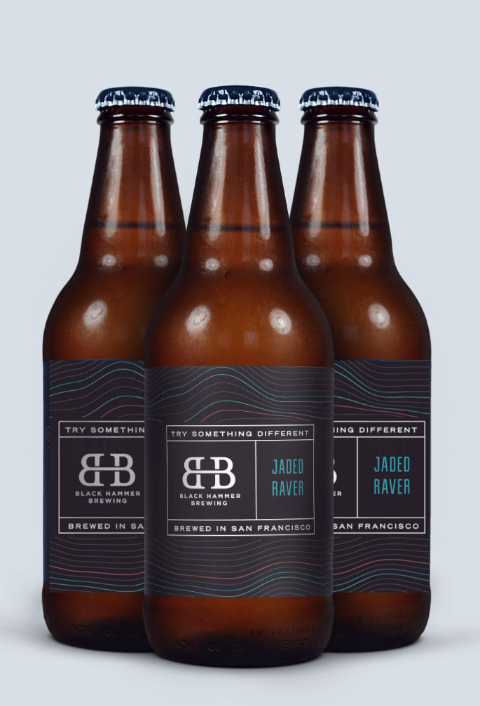branding and packaging design for San Francisco brewery Black Hammer Brewing