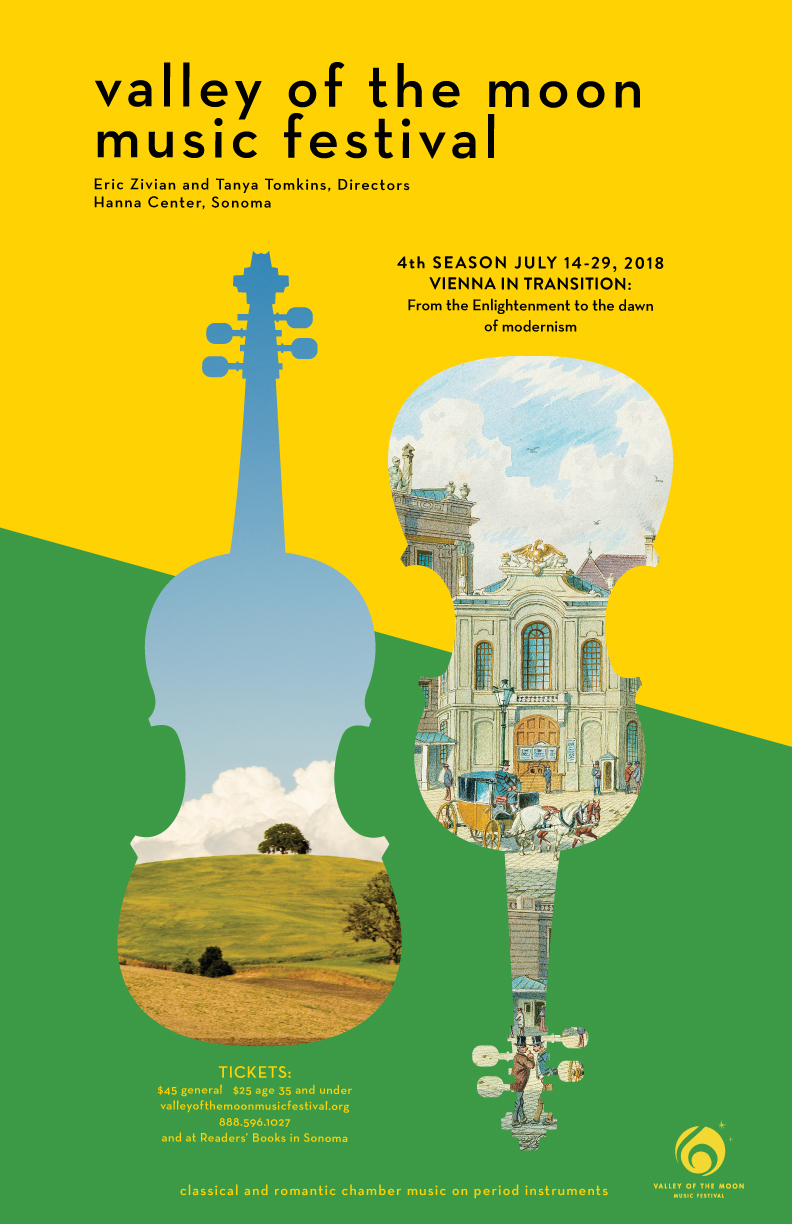 Poster design and event branding for Valley of the Moon music festival