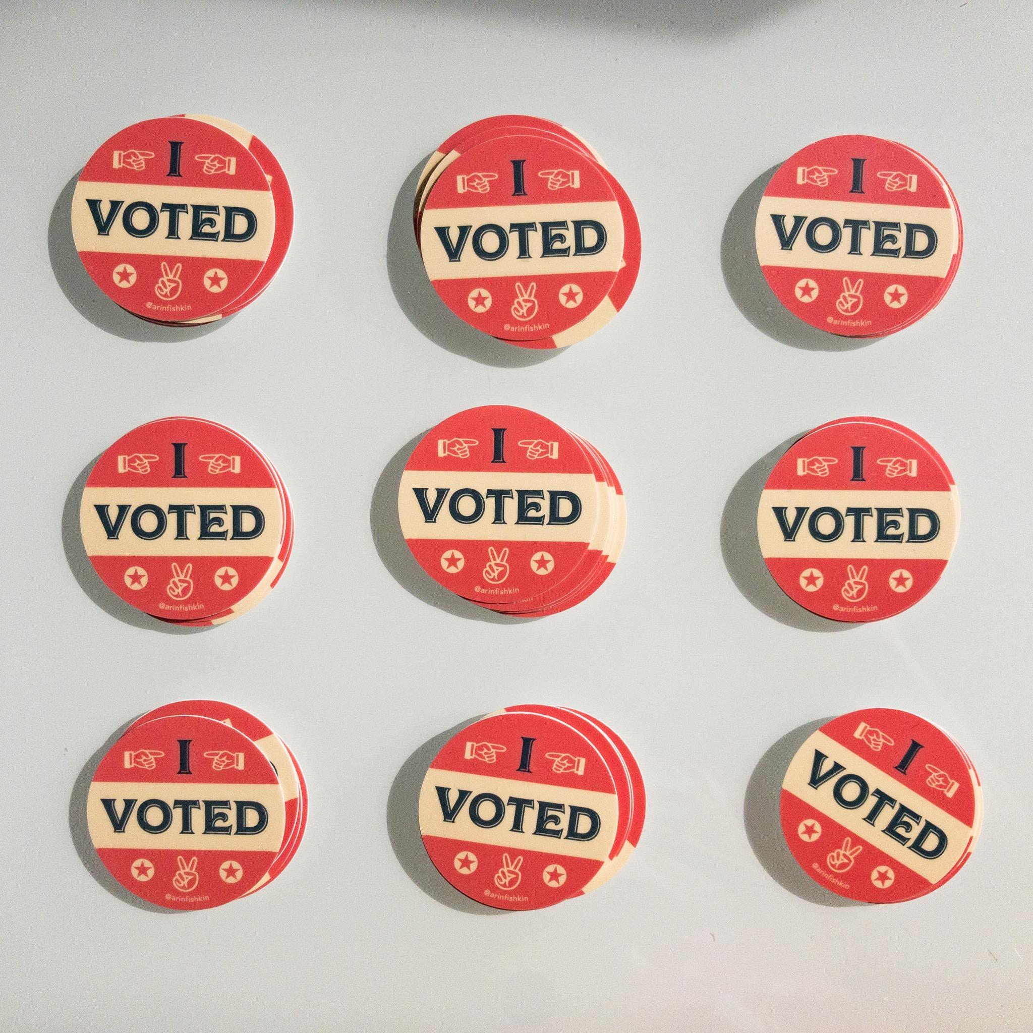 sticker graphic, I voted