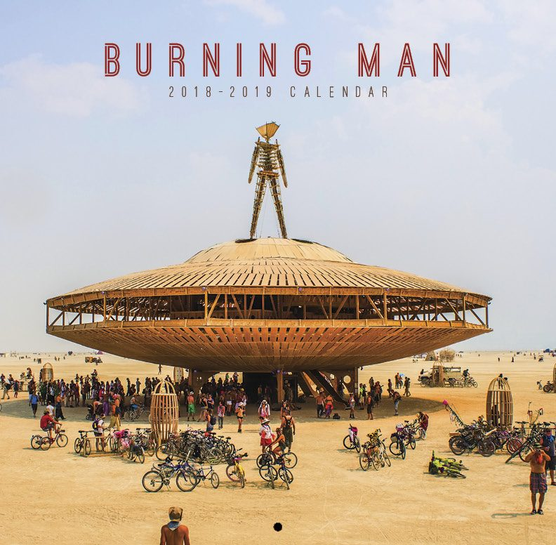 Burning Man design, calendar print design