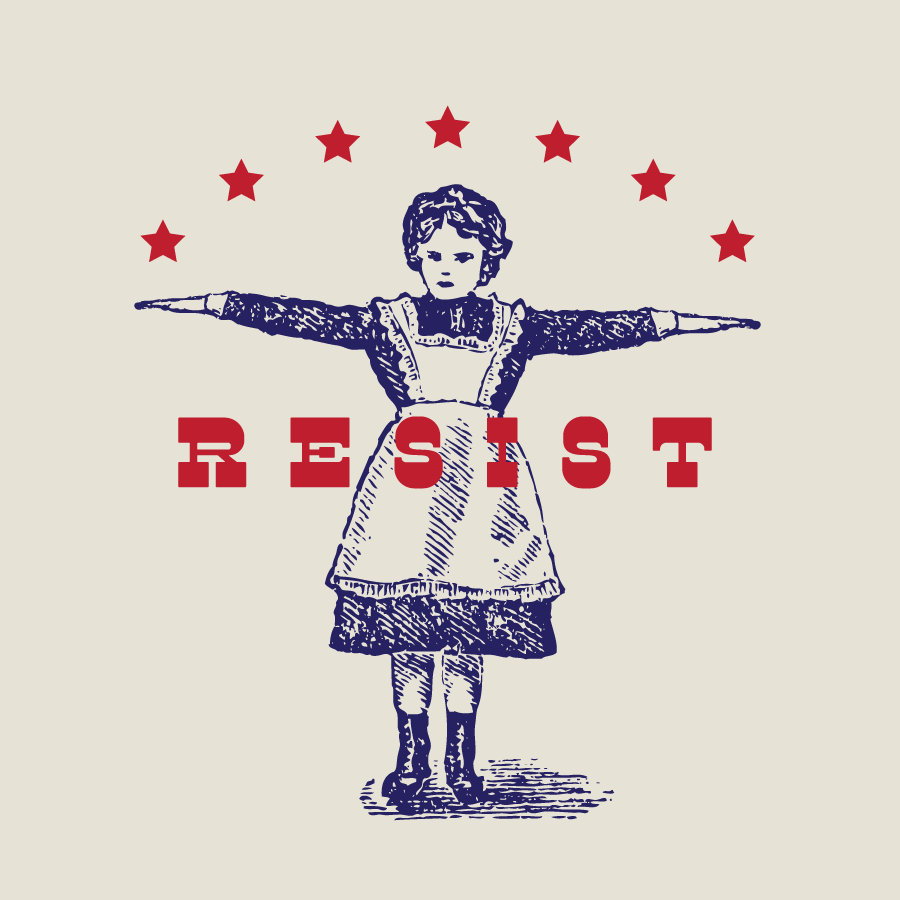 Resist graphic, political meme