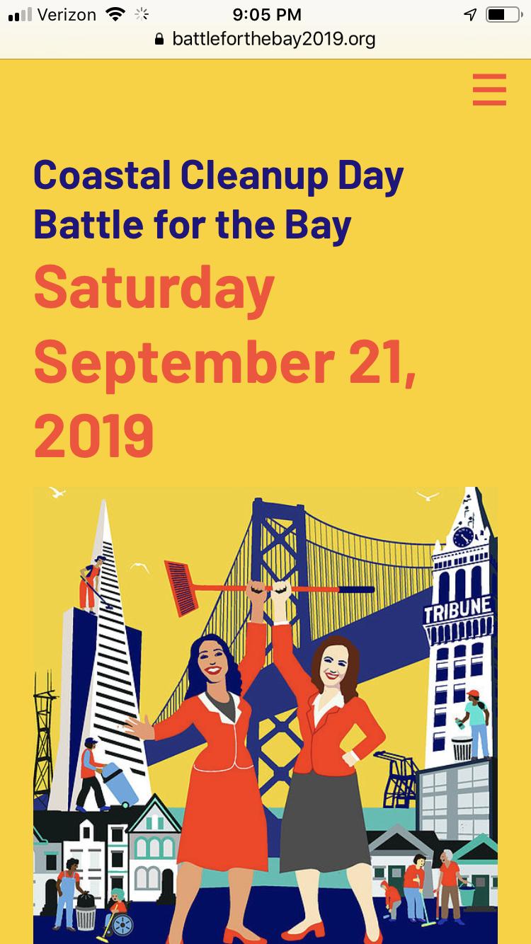 Battle for the Bay website design