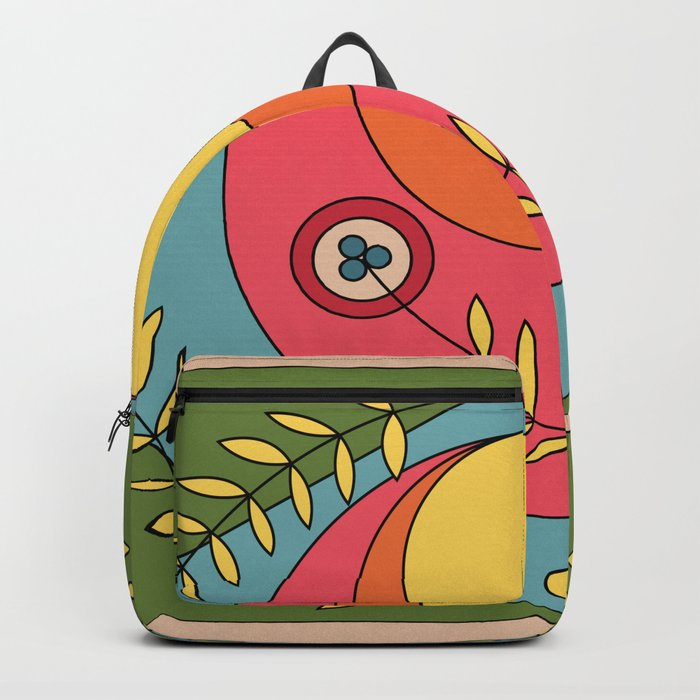 Graphic, colorful backpack design
