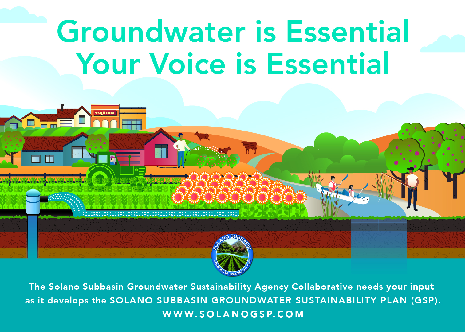 Solano County Groundwater Illustration
