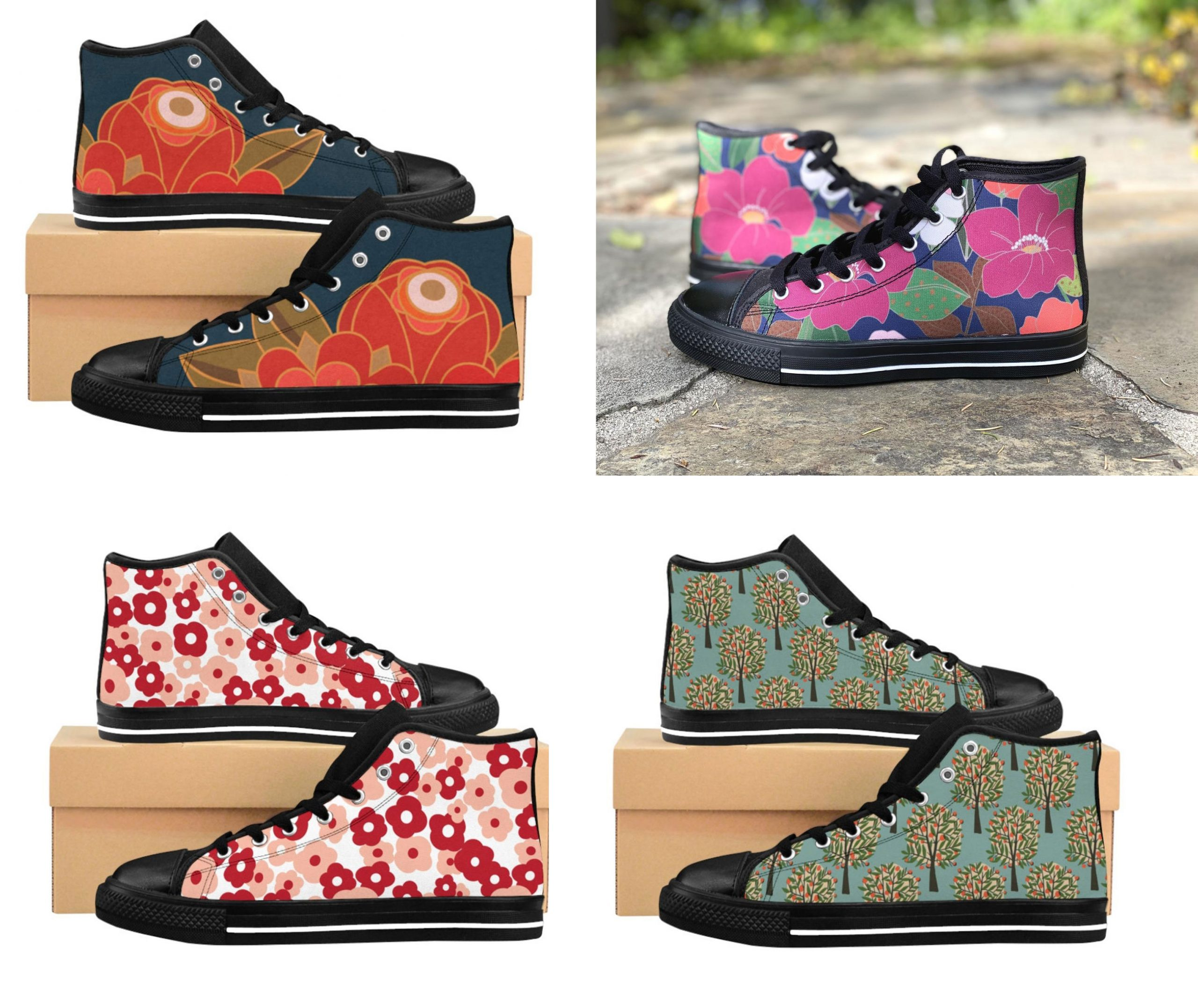 Shop: High tops with original artwork and patterns
