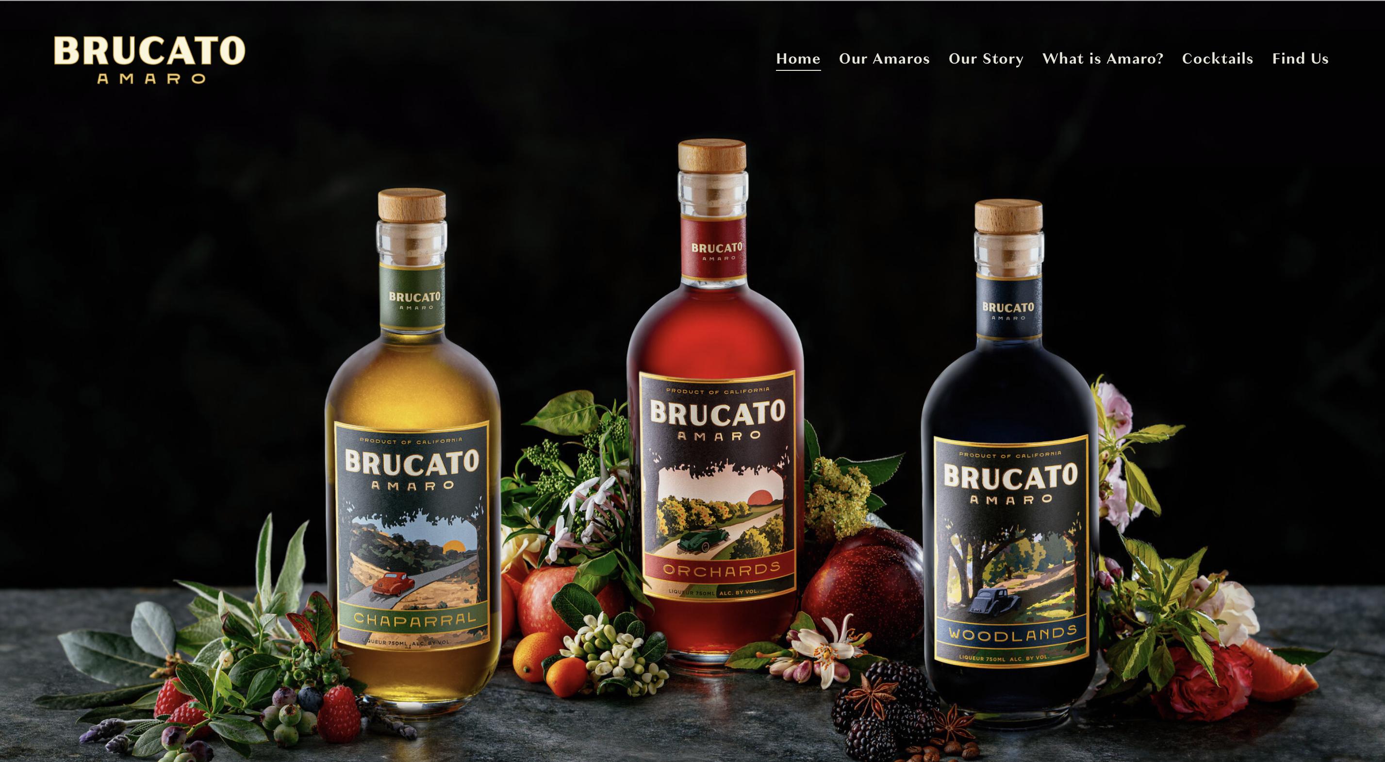 Amaro label design for Brucato Amaro